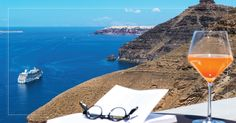 Romance unravels in one of the best honeymoon suites in Santorini belonging to Andronis Honeymoon Suites, where your love is no ordinary love. Honeymoon Suite, Best Honeymoon, Santorini, Alcoholic Drinks, Romance, Memories, Glass, Travel, Romance Film