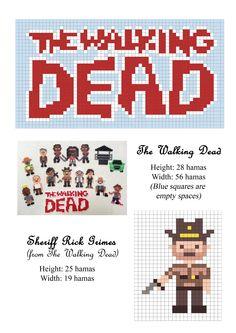 The Walking Dead Rick Grimes sheriff hama beads pattern patron
