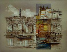 Porto Porto City, Costa, Painting, Art, Paintings, Art Background, Painting Art, Kunst, Performing Arts