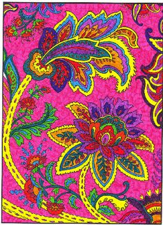 Customer Image Gallery for Paisley Designs Coloring Book Textile Patterns, Textile Design, Color Patterns, Fabric Design, Print Patterns, Pattern Design, Paisley Art, Paisley Design, Paisley Pattern