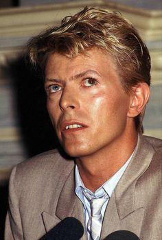 Bowie in Belgium, 1983                                                                                                                                                      More