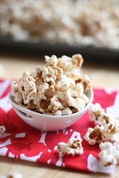 Cinnamon Bun Popcorn - years ago we hosted a contingent of business people from mainland China For a month...we learned many things from them, one being that in China everyone puts sugar on popcorn. They thought it odd that we salt it.