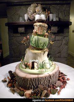 Tartas originales: El hobbit.#meriendas #fiestasinfantiles #fiestastempranito @fiesttempranito  www.fiestastempranito.com