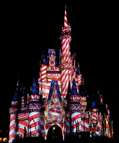 Cinderella Castle for 4th of July