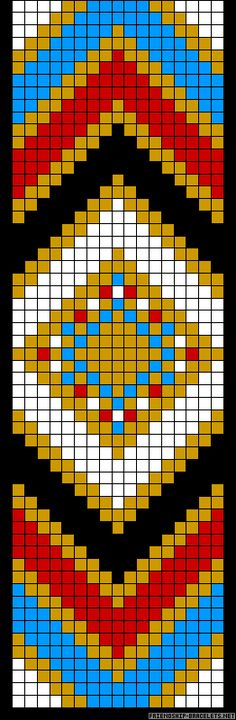 Native American Loom Beading Patterns Free Non Indian Beadwork, Native Beadwork, Native American Beadwork, Seed Bead Patterns, Beading Patterns, Mochila Crochet, Native American Patterns, Motifs Perler, Rico Design