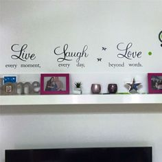 Awesome live laugh love quotes wall decals home decorations adesivo de paredes removable diy wall stickers - Buy it Now! Floor Stickers, Wall Stickers Home Decor, Wall Decor, Room Decor, Car Stickers, Sticker Shop, Wall Decal Sticker, Wall Vinyl, Car Decals