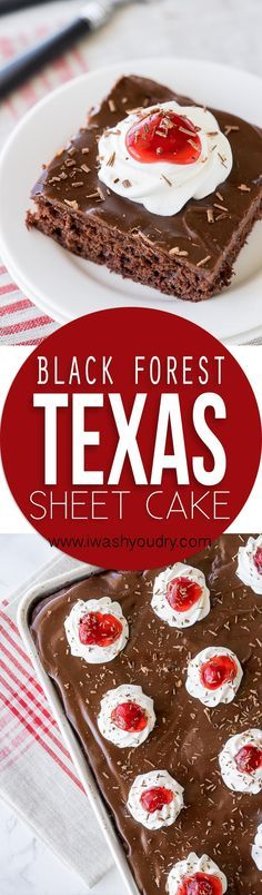 This Black Forest Texas Sheet Cake is seriously so good! I am usually pretty reserved when it comes to cake, but I had to go back for seconds on this one! This one is a keeper!