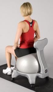 J/Fit Exercise Balance Ball Chair