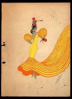 Erté, Costume Sketch, 'Costume Espagnol', 1935.