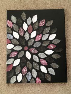Canvas and scrapbook paper craft