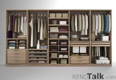 Wardrobe organisation idea