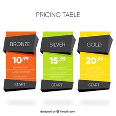 Polygonal price banners Free Vector