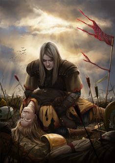 Oropher and Thranduil.  The Journey's end by avisnocturna.deviantart.com on @deviantART
