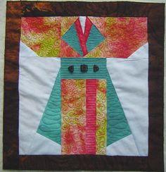 kimono material wall hanging - Google Search