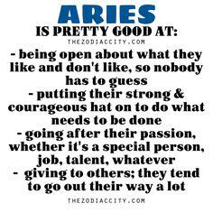 Zodiac Files: Aries is pretty good at….