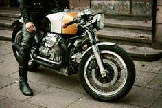 Moto Guzzi Cafe Racer via Garbur Garage 87 - Pin by @Rachel Corbin Motorcycles  #motos #motorcycles #caferacer | Vintgarage
