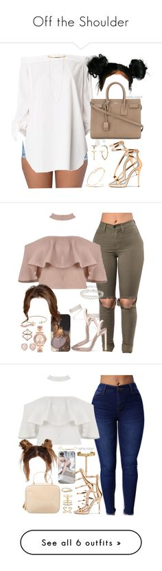 """""""Off the Shoulder"""" by kahla-robyn ❤ liked on Polyvore featuring TIBI, Yves Saint Laurent, Jennifer Fisher, Shay, Tiffany & Co., STELLA McCARTNEY, Michael Kors, Monica Vinader, Plukka and Marco Moore"""