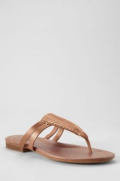 Womens Shea Flat Leather Sandals from Lands End