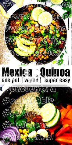 #veganheavenorg #cenaenvegana #vegetarianas #veganrecipes #vegetariana #nutrientes #proteínas #encuentra #saludable #favoritos #deliciosa #mexicana #aguacate #frijoles #impulsoUna mexicana Pot quinua Esta olla vegetariana quinua mexicana con frijoles negros y maíz es una de mis cenas entre semana veganos favoritos! Es super fácil de hacer, muy saludable y deliciosa. Además, está lleno de proteínas! Servir con perejil fresco y aguacate para un impulso extra de nutrientes. | Encuentra más… Vegan Broccoli Salad, Sweet Bell Peppers, Peanut Dressing, Fresco, Plant Based Protein, Red Cabbage, How To Make Salad, Biryani, Quinoa