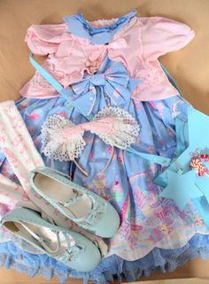 Milky Planet Coord~ Outfit Rundown: Jsk: Milky Planet (AP) Bolero: Heart Tulle (AP) Bag: (AP) Headbow: (BTSSB) Socks: Musical Note (Antaina) Shoes: Bodyline