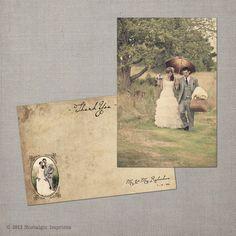 "Vintage Wedding Thank You Cards - the ""Romina"". $38.75, via Etsy."
