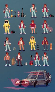 anttillustrates:  Pixelart is awesome. This is what Marty Mcfly wears in the first movie.