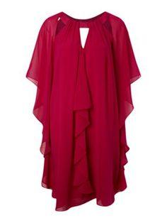 Biba Frill sleeveless dress Dark Pink - House of Fraser