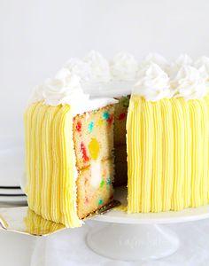 Surprise Inside Funfetti Cake from iambaker.net #surpriseinsidecake