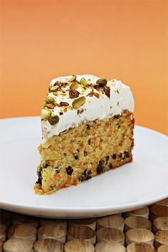Carrot Cake with Cardamom, Currants and Ginger-Crème Fraîche Chantilly