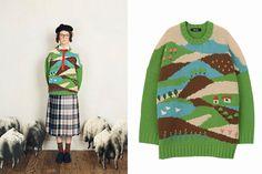 ネ・ネット2016年春夏の新作 - チェックのスカートや丘を描いたニット、羊飼いの幻想を落とし込んで | ニュース - ファッションプレス