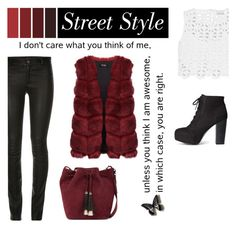 """""""don't care"""" by eysari ❤ liked on Polyvore featuring Loeffler Randall, H&M, Miguelina, StreetStyle and NYFW"""