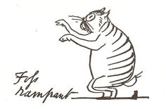 Foss rampant |  drawing of the artist's  cat | Edward Lear