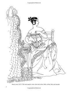 Renaissance Fashions Coloring Book | Renaissance fashion ...