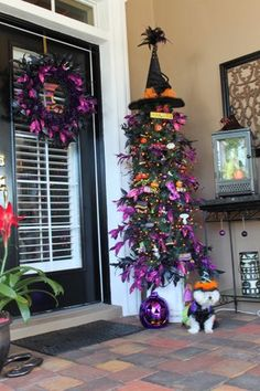 Last year's Halloween tree.