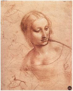 toomuchart:    Leonardo da Vinci, Study for Madonna with the Yardwinder, c. 1501.