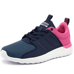 best service e6b7d d5ef5 Adidas Neo Cloudfoam Lite Racer Blue White ( 76) ❤ liked on Polyvore  featuring shoes, mens white sneakers, mens white shoes, mens blue shoes, ...