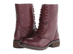 Steve Madden Tropa2-0 Wine Leather - Zappos.com Free Shipping BOTH Ways