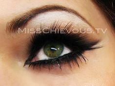 fake eye lashes and cat eyes