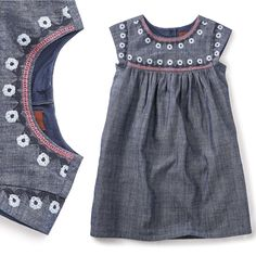 Tea Collection  Fig Street Chambray Dress Sizes 2-12