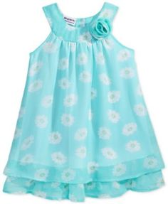 Blueberi Boulevard Floral Ruffle Dress, Toddler & Little Girls (2T-6X)