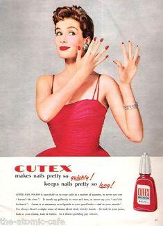 Cutex 1955- Love This! my dad still calls nail polishes of any brand cutex lol