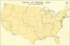 Rates of Travel in the U.S. - in 1800, and in 1930    ...Wow, how times have changed!...