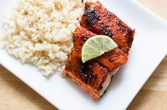Delicious, easy, and healthy recipe for grilled salmon using brown sugar and chili powder as a dry rub.