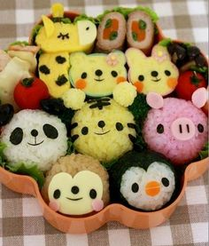cute animals bento ♥