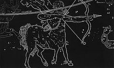 Part of my new series of Astrological Signs. This one features Sagittarius based on a Century Antiquarian Print. Great linework and texture! Available in 3 colors: Slate Gray, Antique Blue, or Black Constellation Art, Zodiac Constellations, Framed Art, Framed Prints, Star Pictures, Astrology Signs, Stars And Moon, Sagittarius, Fine Art Paper