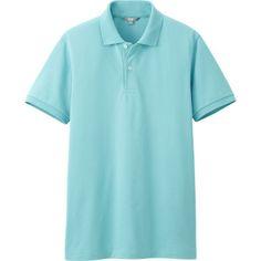 MEN DRY PIQUE SHORT SLEEVE POLO SHIRT Color: 51 GREEN Polo Shirt Colors, Uniqlo Men, Short Sleeve Polo Shirts, Colorful Shirts, Green, Sleeves, Mens Tops, Fashion, Pique