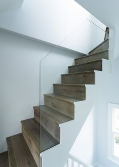 A carefully designed stair ensures that only one flight is required up to the new London loft master suite, rather than having a stair return, which and take out to much of the floor space to the bedroom. Side Return Extension, Roof Extension, Loft Conversion Roof, Loft Conversions, New London, Attic Rooms, Loft Spaces, Floor Space, Master Suite