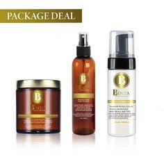 The Perfect Soft Curl Package Deal: (1) Moisturizing Whipped Hair Smoothie Crème, For Hair Growth, (1) Frizz Free Foaming Mousse , (1) 3 In 1 Silkening Co-wash / Conditioner / Detangler