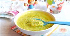 Minestrina con zucchine e stracciatella d'uovo