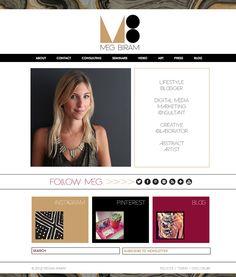 Woohoo! My dear friend's website launched! MegBiram.com